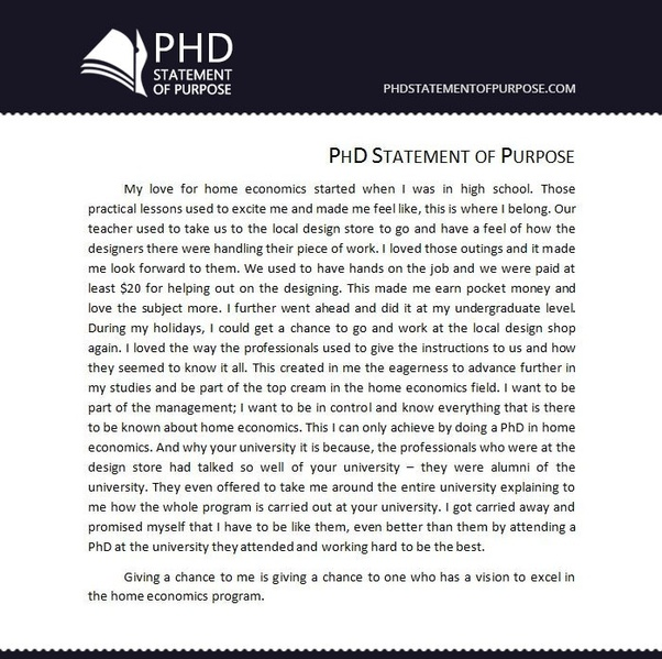 Write a phd application
