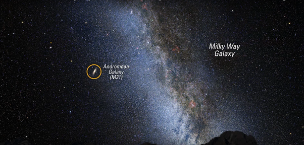Why can you see the Andromeda Galaxy with the naked eye