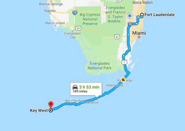 which is the scenic route from fort lauderdale to key west