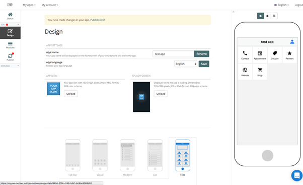 What are the best drag and drop phone app development tools