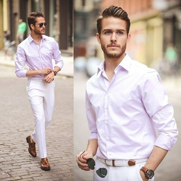 What Color Shirt Goes Well With White Pants For Men Quora