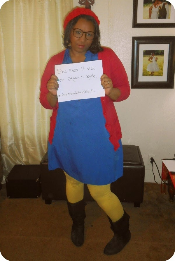Hipster Snow White costume. Black snow white.