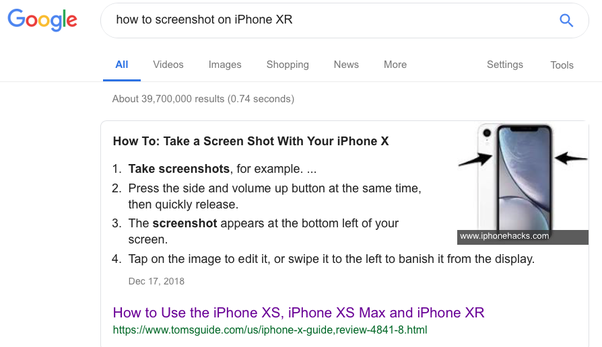 How to take a screenshot on iPhone XR - Quora