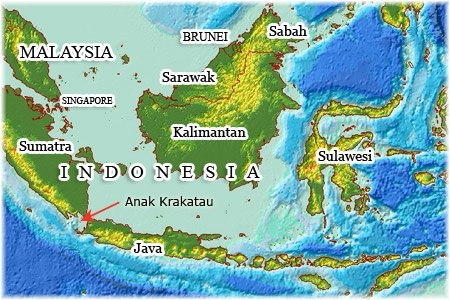 Is krakatoa really located east of java quora and the island which rose from the devastation anak krakatau is in my opinion west of java as its between south sumatra and north of jakarta publicscrutiny Image collections