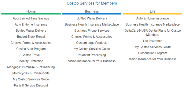 What are some services that Costco offers that people might