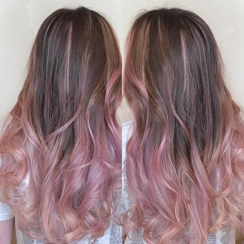 When your hair is black, can you color or highlight it with pink or ...