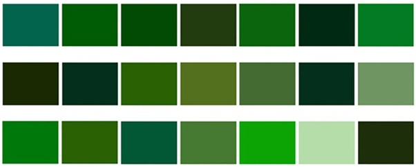 The Color Mixing Table Below Will Help You Get A Variety Of Green Shades