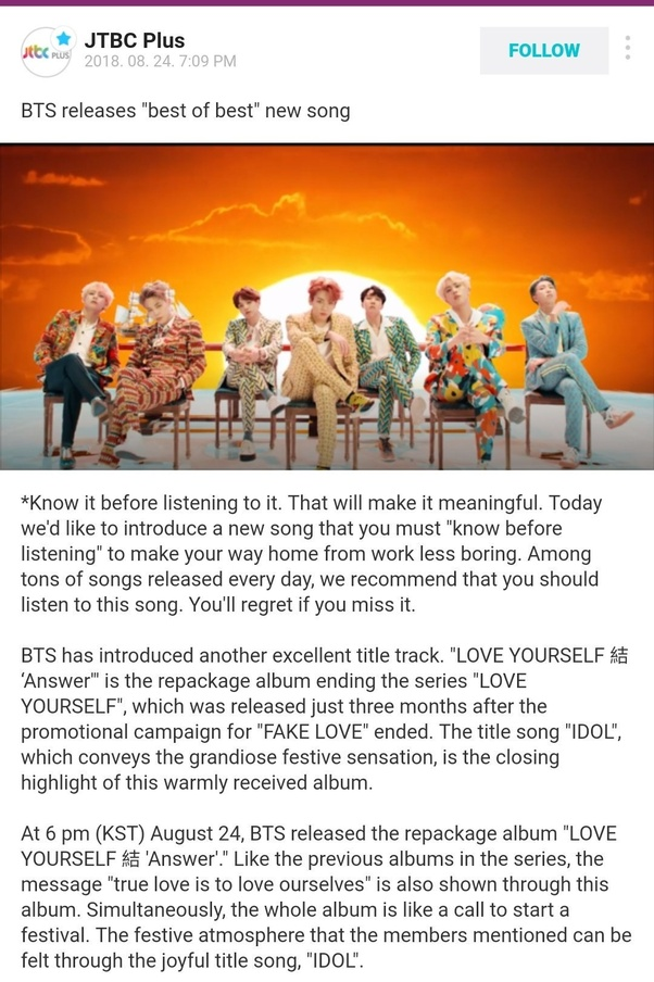 "What are your thoughts on BTS' new song ""IDOL""? - Quora"