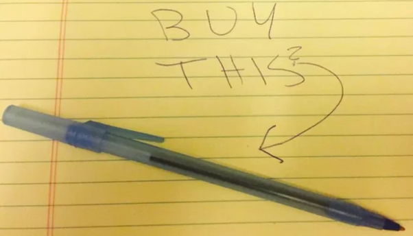 What are some of the best responses to 'sell me this pen/pencil' in