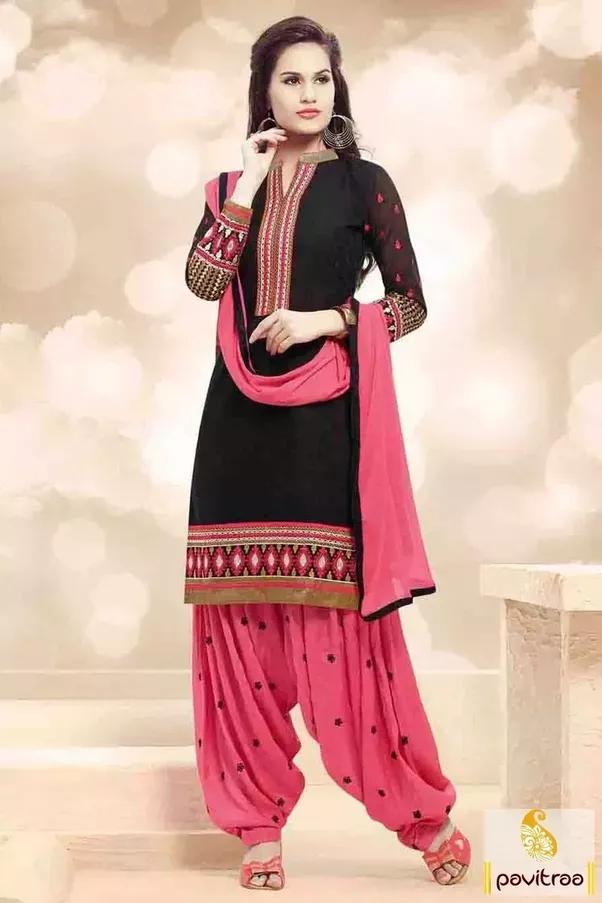 Shocking pink color combinations dresses online