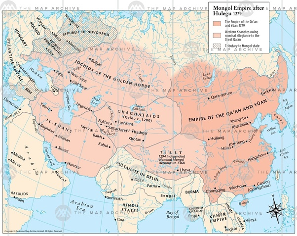 History of World: Mongol history   Mongol Conquest Land