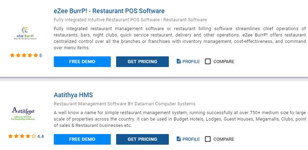 Which is best restaurant management system with online and