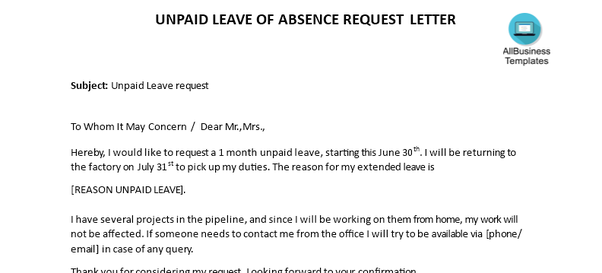 How to write a letter requesting unpaid leave - Quora