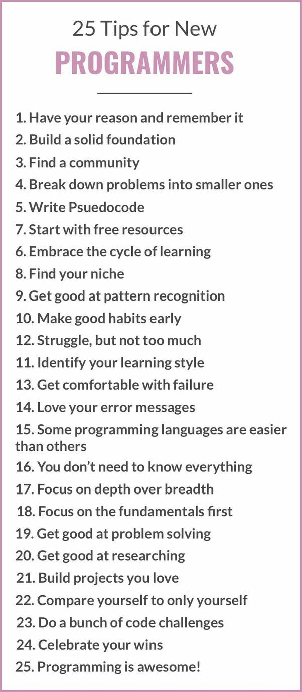 Welchen Rat können Sie neuen Programmierern geben? - Finde