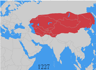 Genghis Khan Empire Map What happened to the Mongol Empire after Genghis Khan?   Quora Genghis Khan Empire Map