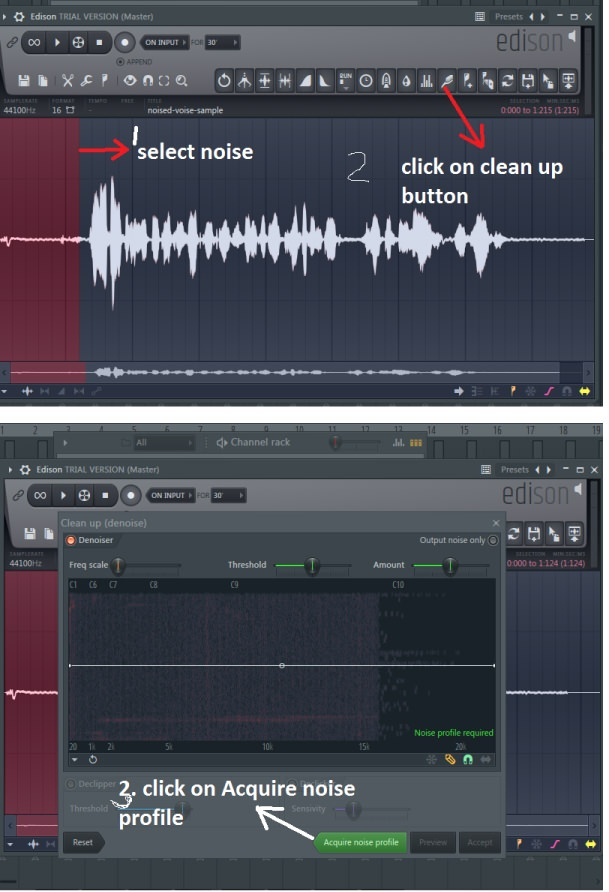 How to actively reduce noise while recording in FL Studio