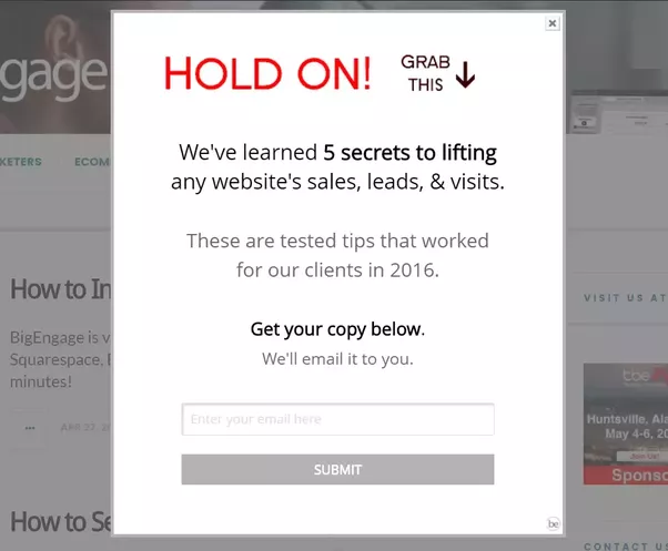 How to generate more leads via my website quora depending on what your site is this might be a free ebook special access to exclusive content discounts etc this example offers an ebook with tips fandeluxe Image collections