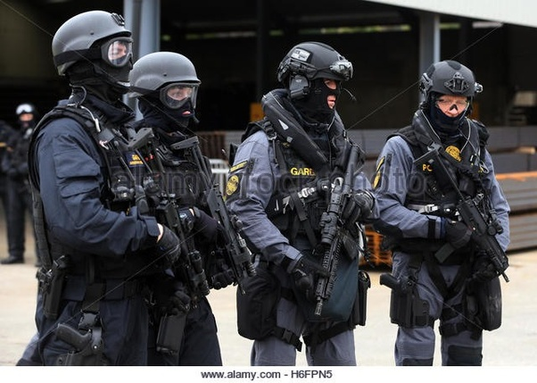 Why do SWAT officers in many European countries always wear ...
