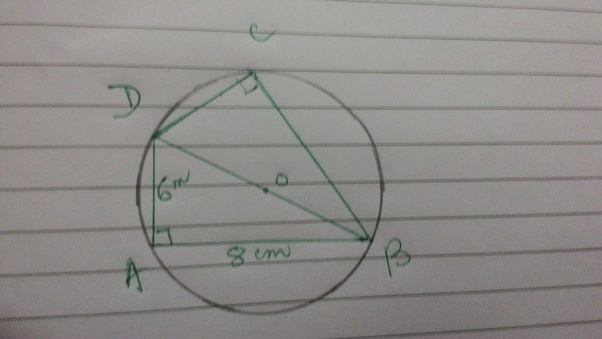 A quadrilateral is inscribed in a circle if the opposite angles of a quadrilateral is inscribed in a circle if the opposite angles of the quadrilateral are equal and length of its adjacent sides are 6 cm and 8 cm ccuart Gallery