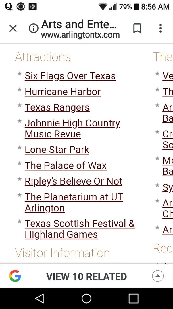 Is Arlington, Texas more than Six Flags? - Quora