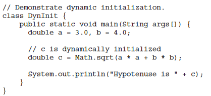 What do you mean by a dynamic initialization of variables? - Quora