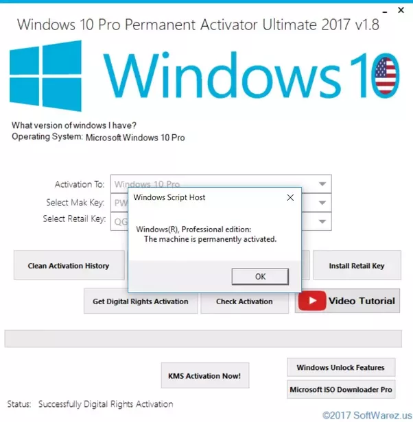 How to activate windows 10 permanently quora rememberdigital entitlement activation only works for following editions of windows 10 windows 10 pro windows 10 pro vl ccuart Gallery