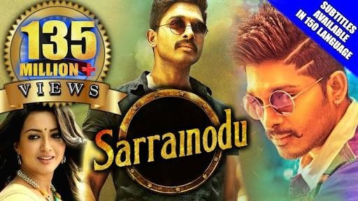 Currenly the most viewed Indian Movie on youtube is Sarrainodu with 148  million views. It was uploaded officially on youtube in Hindi.