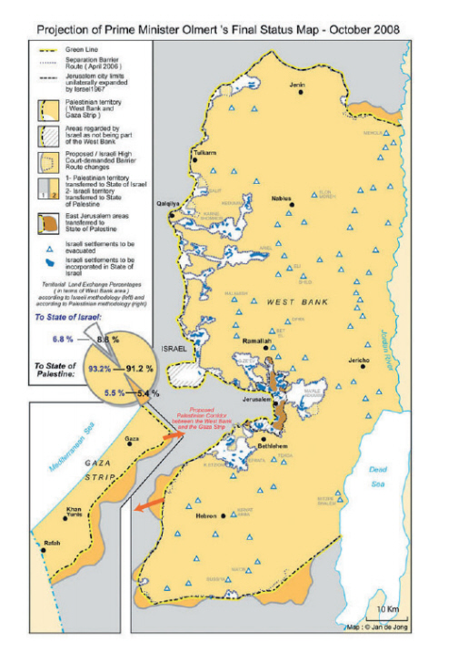 Where is palestine located in israel and why is the territory fought israeli peace offer the olmert plan of 2008 which offered 100 of the territorial equivalent of the green line when land swaps and the access to gaza gumiabroncs Gallery