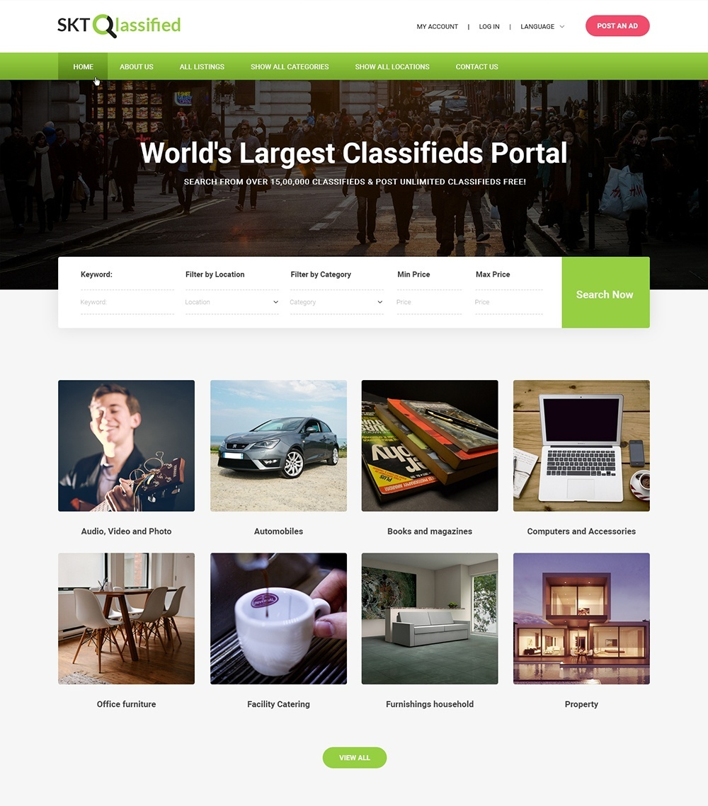 Which theme should I use for a classified website which I