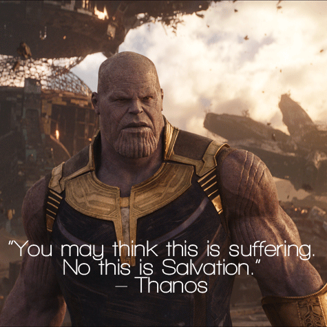 "SPOILER] In Infinity War, when Thanos tells Thor ""You should have"