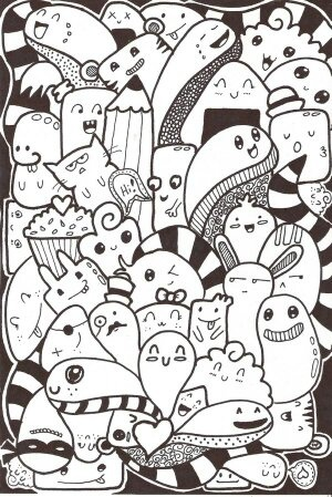 What are some examples of doodle art? I've been wanting to