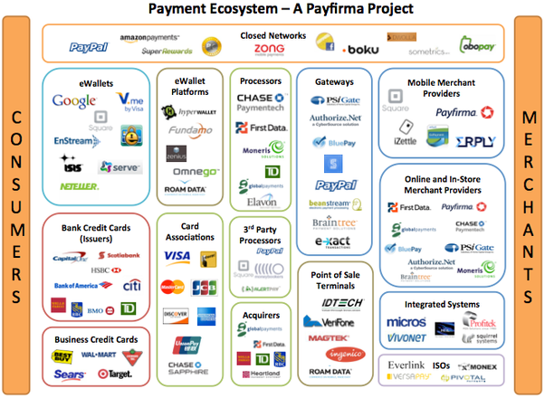 How does the payments ecosystem work what