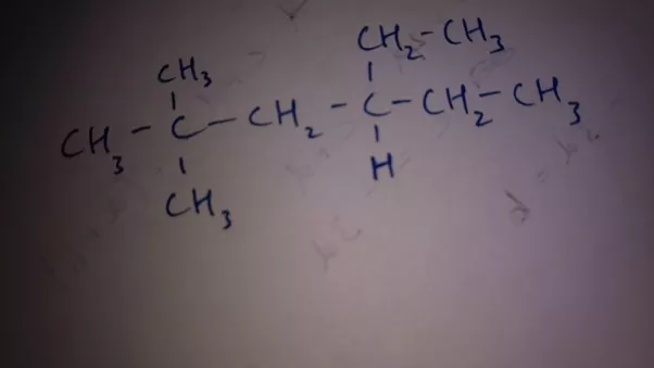 what is the structural formula of 4ethyl22