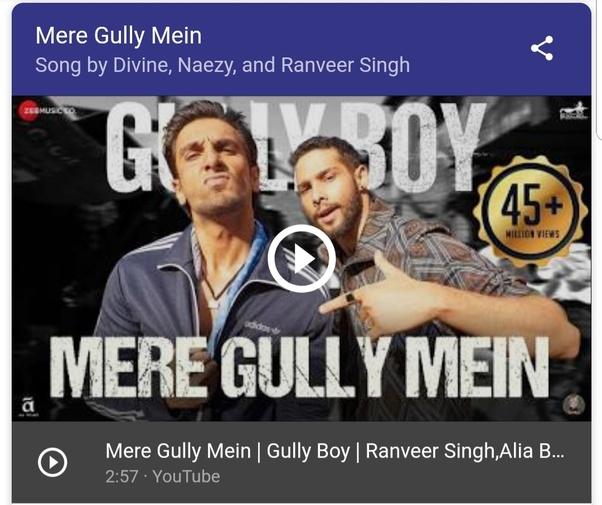 Which Bollywood song has the lyrics 'Vo hai meri, bas hai meri Shor