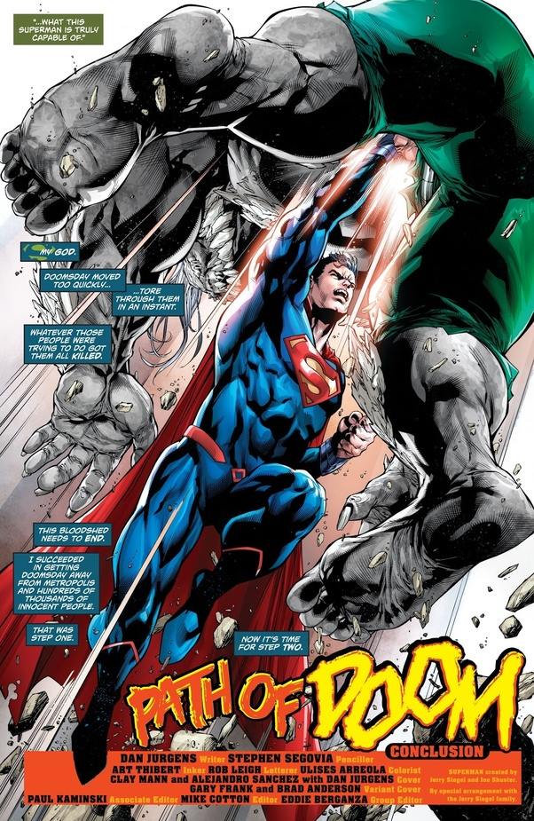 Can Current Superman Defeat The Current Version Of Doomsday Quora