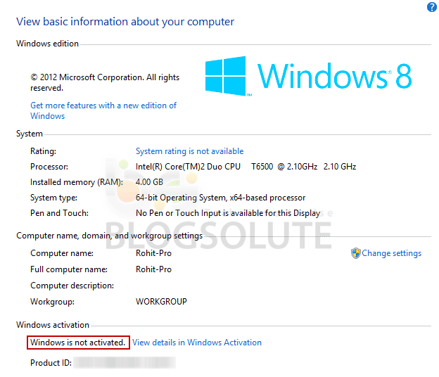 what does it mean to activate windows