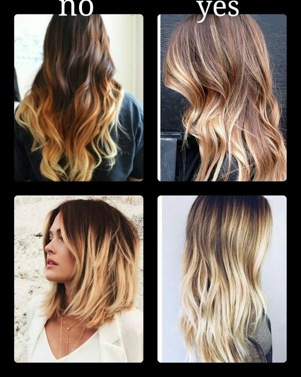 How to do ombre hair quora i definitely do not reccomending doing this yourself here are some examples of beautifully executed ombr color on the right and what i consider to be solutioingenieria Choice Image