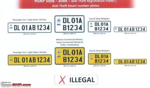 What Do The Black Red White Yellow Number Plates In Indian