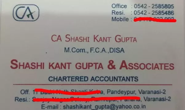 What are some chartered accountant visiting card designs quora reheart Images