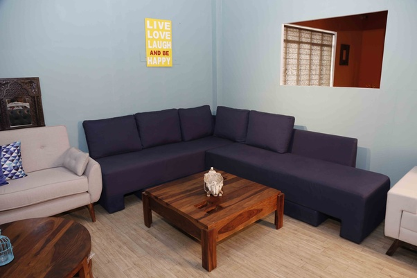 a40d25b6e The amazing range of L shaped sofas at Wooden Street offers you a  comfortable and luxurious design. Crafted from Sheesham and Mango Wood and  enhanced with ...