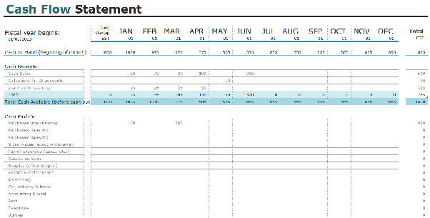 you can also have a look at other free templates for financial statements such as