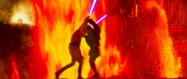 Why Couldn T Anakin Defeat Obi Wan Anakin Was Clearly A Better Jedi And He Saved Obi Wan From All Kinds Of Trouble Quora