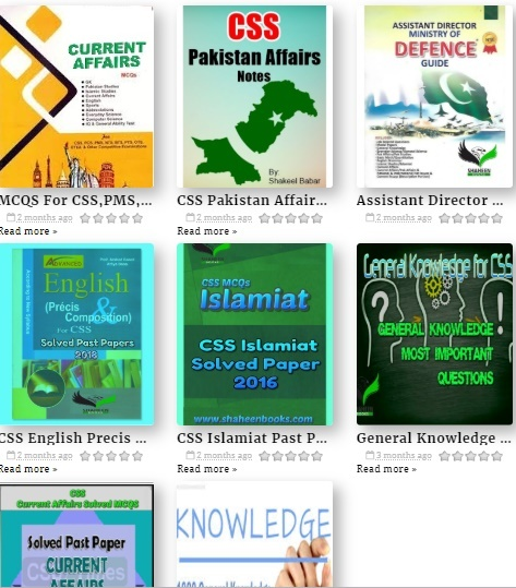 Best books for c. S. S preparation all subjects testdunya.