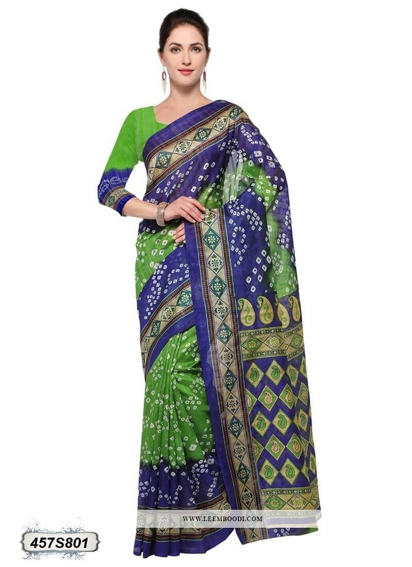 43d79cb4a7 If saree border color is blue then can be worn with green color blouse and  vice-versa. Below I have attached some pics for reference.