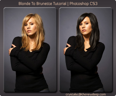 How to make her hair color black with Photoshop - Quora