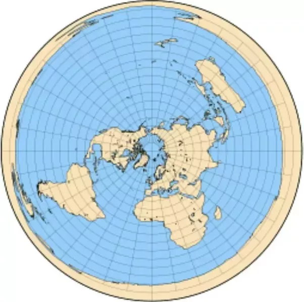 Why do flat earthers mock space photos as photoshopped yet all their that makes antarctica the perimeter of the flat earth supposedly holding in the oceans plotting distances on this map projection shows how ridiculous it gumiabroncs Choice Image