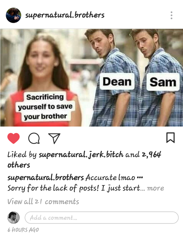 Why don't people love Sam Winchester as much as Dean