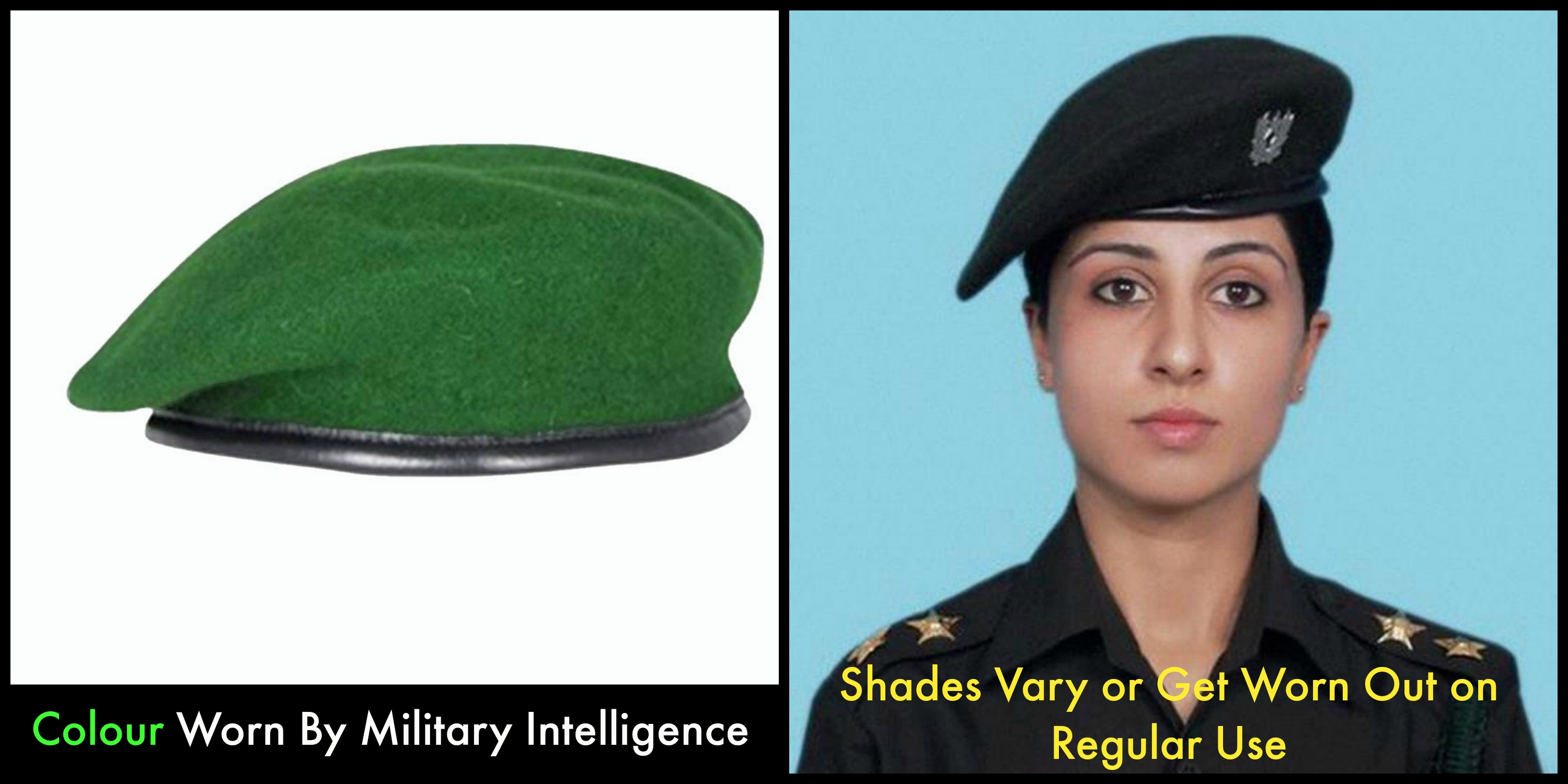Why are the colours of the berets of different corps of the