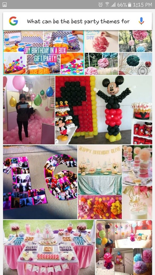 what can be the best party themes for a birthday party with friends