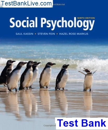 Social psychology 8th edition kassin ebook.